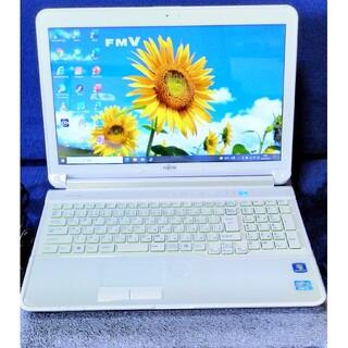 富士通 - SSD換装済 CPUi3新品バッテリー、キーボード済Office2019付他