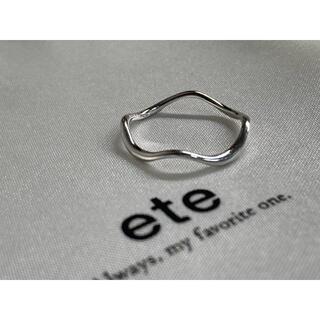 ete - ete K10 WG レイヤード ウェーブ リング #7 購入証明書付
