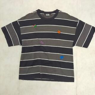 ヒステリックグラマー(HYSTERIC GLAMOUR)のHYSTERIC GLAMOUR ヒステリックグラマー ボーダー 刺繍 Tシャツ(Tシャツ/カットソー(半袖/袖なし))