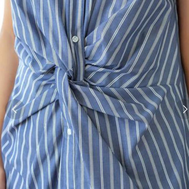 STYLE DELI(スタイルデリ)の【LUXE】ウエストツイストシャツワンピース レディースのワンピース(ひざ丈ワンピース)の商品写真