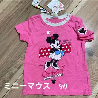ミニーマウス(ミニーマウス)の新品 Tシャツ ディズニー Tシャツ ミニーマウス 90(Tシャツ/カットソー)