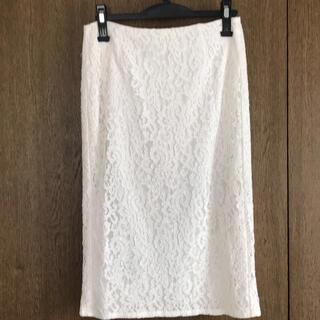 ジーユー(GU)のGU レースロングスカート Lサイズ(ロングスカート)