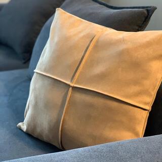 ACTUS - アクタス IKEA Francfranc好き スエード調ブラウンクッションカバー