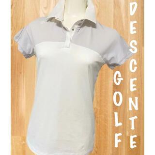 DESCENTE - 美品⛳️デサントゴルフ 半袖 ポロシャツ レディース ゴルフウェア