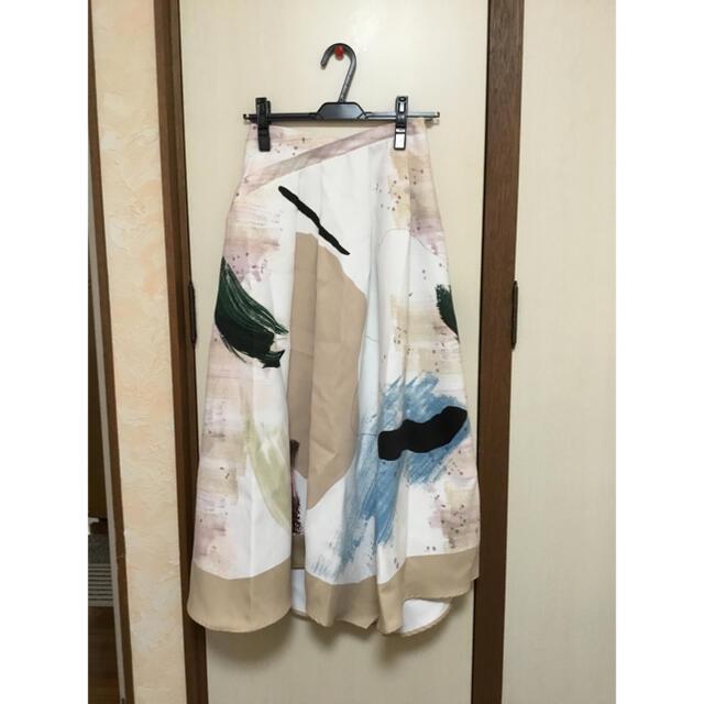 Ameri VINTAGE(アメリヴィンテージ)のMARY PAINTING FLARE SKIRT レディースのスカート(ロングスカート)の商品写真