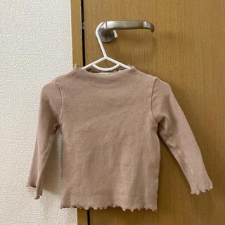韓国子供服★リブフリルロンT