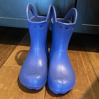 クロックス(crocs)の長靴 レインブーツ crocks クロックス キッズ 17.0cm ブルー(長靴/レインシューズ)