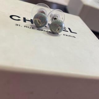 シャネル(CHANEL)のCHANEL ピアス ヴィンテージ 正規品 小粒 水色(ピアス)