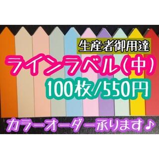 ◎ 100枚 ◎ 白 ( 中 ) ラインラベル 園芸ラベル カラーラベル (その他)