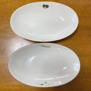 猫柄オーバル大皿 パスタ皿カレー皿サイズ