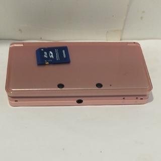 ニンテンドー3DS - 送料無料!Nintendo/任天堂/3DS本体/SDカード付き/ピンク