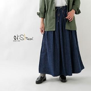 BEAMS BOY - 2枚オアスロウ  デニム ギャザースカート