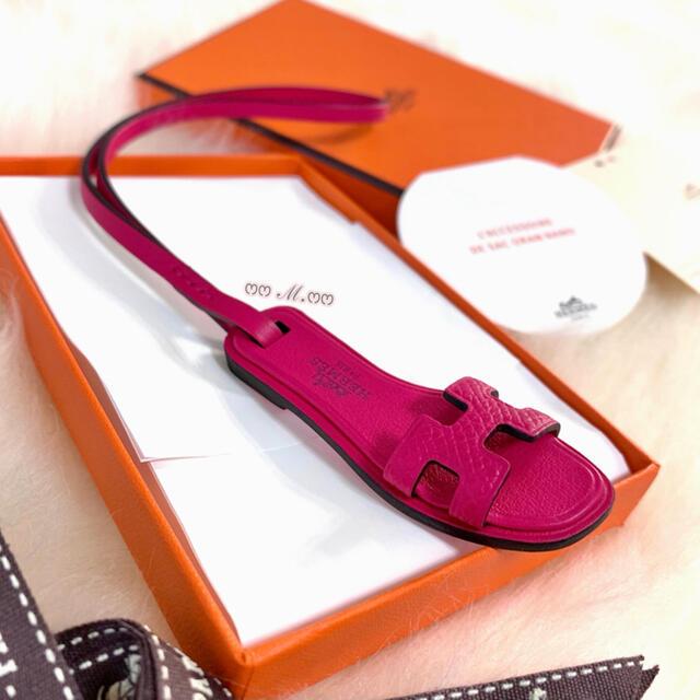 Hermes(エルメス)のHERMES  希少❣⃛SO-PINK オラン《ナノ》チャーム ローズメキシコ ハンドメイドのファッション小物(バッグチャーム)の商品写真