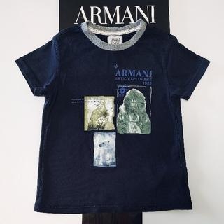 アルマーニ ジュニア(ARMANI JUNIOR)のARMANI キッズ ブラックTシャツ 5A112(Tシャツ/カットソー)