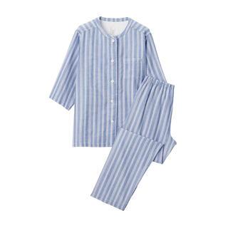 ムジルシリョウヒン(MUJI (無印良品))の新品 無印良品  脇に縫い目のない 薄手ガーゼ七分袖パジャマ  (パジャマ)
