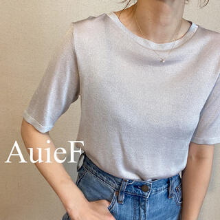 BEAUTY&YOUTH UNITED ARROWS - AuieF ラメ5分袖カットソー