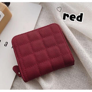 流行りのコンパクト♡ミニ財布 レディース キルティング 緑♡