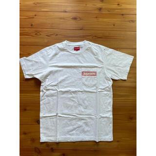 Supreme - supreme poket tee Box Logo Sサイズ white