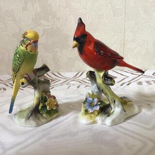 ロイヤルドルトン(Royal Doulton)のロイヤルドルトン フィギュリン 鳥 2体(置物)