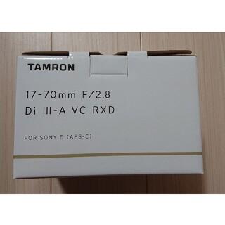 TAMRON - 新品未開封 タムロン 17-70mm F/2.8 ソニーEマウント用(B070)