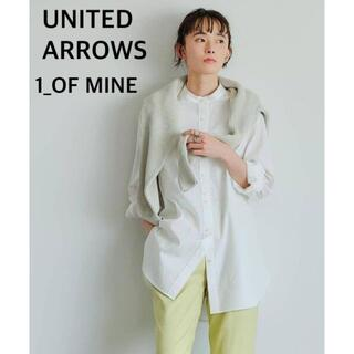 UNITED ARROWS - UNITED ARROWS ユナイテッドアローズ バンドカラーシャツ