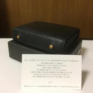 エムピウ(m+)の【エムピウ】ミッレフォッリエ P25 クアドレッティ ブラック 財布(折り財布)