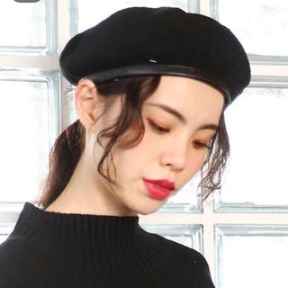 LOWRYS FARM - 【美品】サマーベレー帽 LOWRYSFARM ブラック 帽子 パイピング