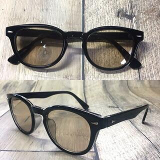 バイカーシェード ライトブラウン ウェリントン サングラス ボストン 眼鏡