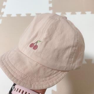 プティマイン(petit main)のバースデイ さくらんぼ 帽子 50~52cm(帽子)