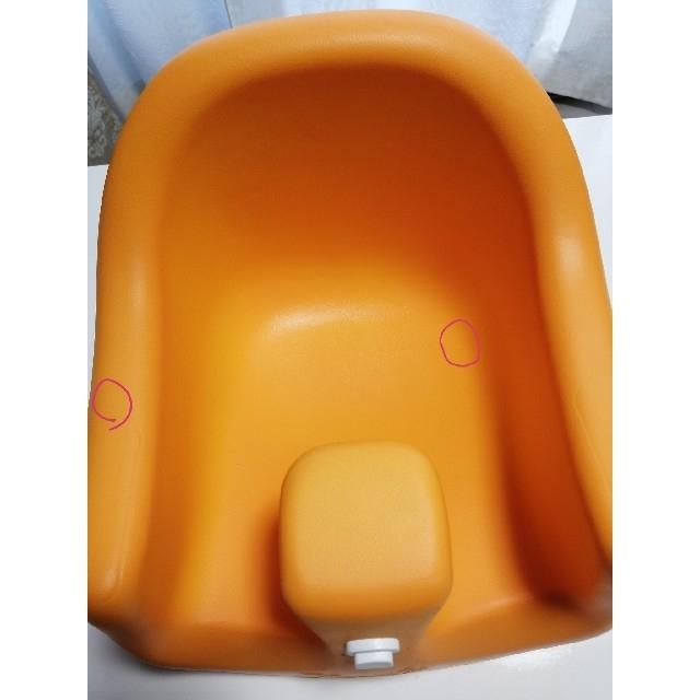 カリブ ベビーチェア【オレンジ】 キッズ/ベビー/マタニティのキッズ/ベビー/マタニティ その他(その他)の商品写真