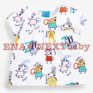 NEXT - ●ペッパピッグ アルファベットプリント コットンTシャツ
