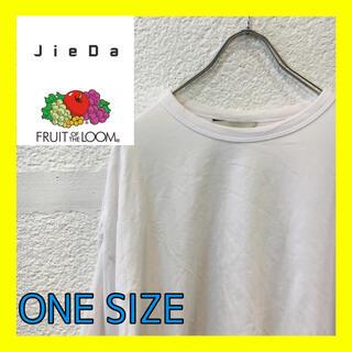 ジエダ(Jieda)のD2 Jieda×FRUITOFTHELOOM ジエダ ビックTシャツ(Tシャツ/カットソー(半袖/袖なし))