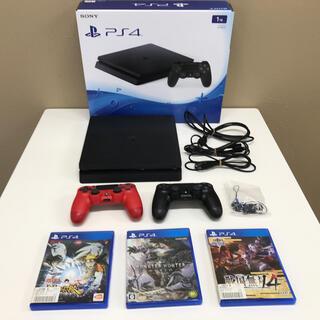 PlayStation4 - 【PlayStation4】プレステ4本体×1  コントローラー×2 ソフト×3