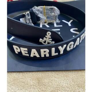PEARLY GATES - パーリーゲイツ  ベルト (UNISEX)メンズネイビーサイズL