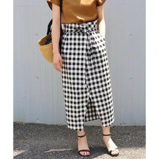 IENA - IENA チェックタイトスカート