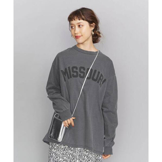 BEAUTY&YOUTH UNITED ARROWS -  BY ロゴプリントロングスリーブTシャツ