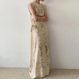 dholic - roomoon タイダイサイドオープンドレス ワンピース