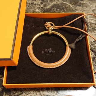 Hermes - エルメス ループグラン loop grand ゴールド 茶色