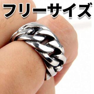 太 リング チェーン 指輪 サムリング メンズ ピンキー 喜平 韓国