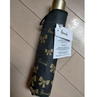 ハロッズ(Harrods)の新品 Harrods ハロッズ折り畳み傘 gold bow リボン ゴールド(傘)
