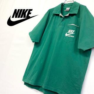 ナイキ(NIKE)の美品 古着 NIKE ポロシャツ メンズXL グリーン系 (ポロシャツ)