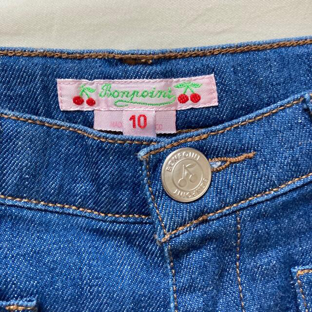 Bonpoint(ボンポワン)のボンポワン bonpoint デニムショートパンツ 10a 130 キッズ/ベビー/マタニティのキッズ服女の子用(90cm~)(パンツ/スパッツ)の商品写真