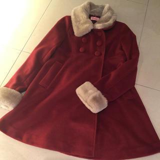 シークレットマジック(Secret Magic)の【SALE中】Aラインの赤い コート(ロングコート)