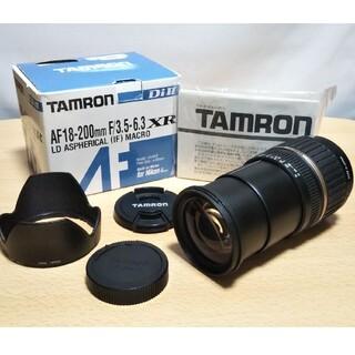 タムロン(TAMRON)のTAMRON高倍率ズームレンズ18-200mmニコン用 元箱あり(レンズ(ズーム))