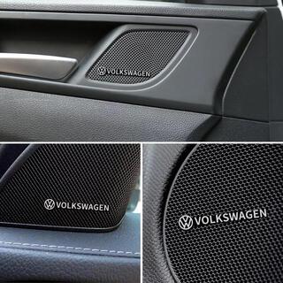 フォルクスワーゲン(Volkswagen)のフォルクスワーゲン アルミステッカー 4個  エンブレムステッカー(車内アクセサリ)