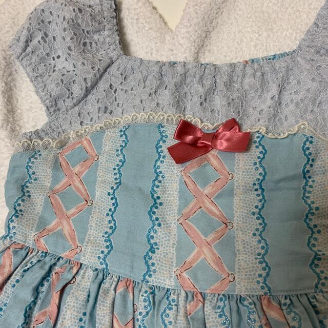 Shirley Temple(シャーリーテンプル)のD・トゥシューズ キッズ/ベビー/マタニティのキッズ服女の子用(90cm~)(ワンピース)の商品写真
