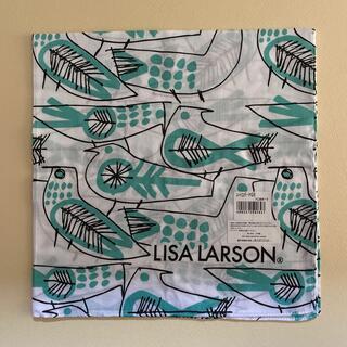 Lisa Larson - リサラーソン ハンカチ レトロバード グリーン ランチクロス