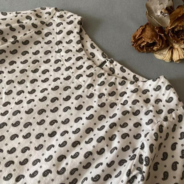 ハンドメイド⚚↟⿻ ヘリンボーン柄✾大人ブラウス*̩̩̥୨୧˖ 110 キッズ/ベビー/マタニティのキッズ服女の子用(90cm~)(ブラウス)の商品写真