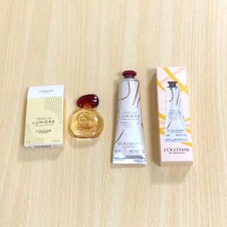 ロクシタン(L'OCCITANE)のロクシタン テールドルミエール ゴールドオードパルファム ハンドクリームセット(香水(女性用))