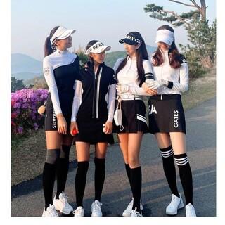 PEARLY GATES - 【新品】韓国パーリーゲイツ ゴルフ ゴルフウェア レディース ハイネック 長袖